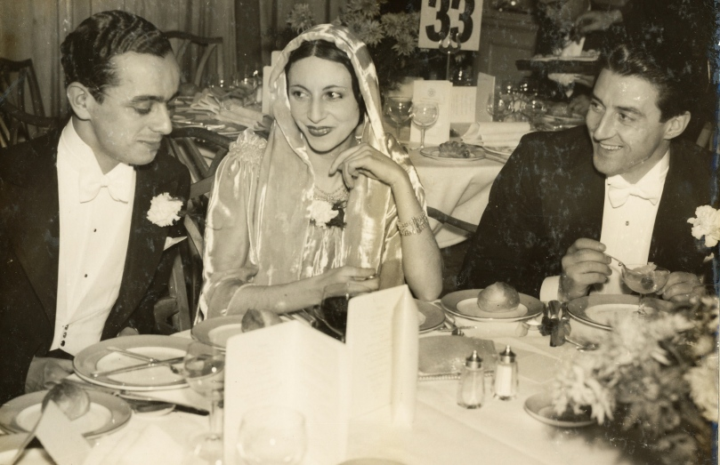 Marc (left) enjoying a formal evening with his friends, the prima ballerina, Alicia Markova and the ballet dancer and choreographer, Anton Dolin.