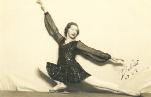 The dancer and athlete, Belita.