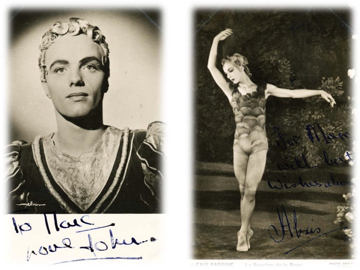 Two friends of Marc from the world of dance: John Gilpin (left), Principal with the Festival Ballet and Alexis Rassine (right).